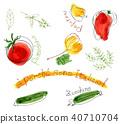 식자재, 요리 재료, 식재료 40710704