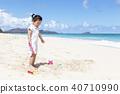 모래놀이,유아,베이비,아기,어린이,와이마날로비치,오아후,하와이,미국 40710990