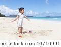 모래놀이,유아,베이비,아기,어린이,와이마날로비치,오아후,하와이,미국 40710991