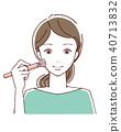 메이크업 여성의 얼굴 40713832
