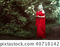 Young elf woman in a fairy forest. 40716142