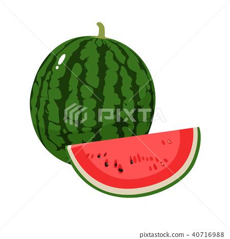 新鲜水果和西瓜的例证 40716988