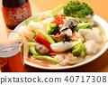 อาหารจีนอาหารทะเลและผักผัดและสุรา Shaoxing 40717308
