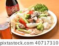 อาหารจีนอาหารทะเลและผักผัดและสุรา Shaoxing 40717310