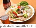 อาหารจีนอาหารทะเลและผักผัดและสุรา Shaoxing 40717313