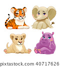 Baby Jungle animals with cute eyes 40717626