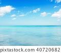 쿠바 바다와 푸른 하늘 40720682