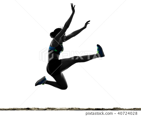 african runner running sprinter sprinting woman isolated white b 40724028