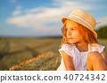 girl hay contemplation 40724342