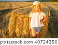 girl hay hat 40724350