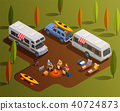 isometric camp camping 40724873