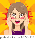 Woman Glasses Surprised 40725111