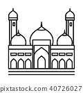 Mosque line icon - Vector iconic Illustration 40726027
