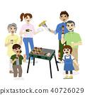 三代家庭烤肉例證 40726029