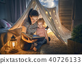 Mom and child reading book 40726133