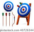 target, archery, set 40726344