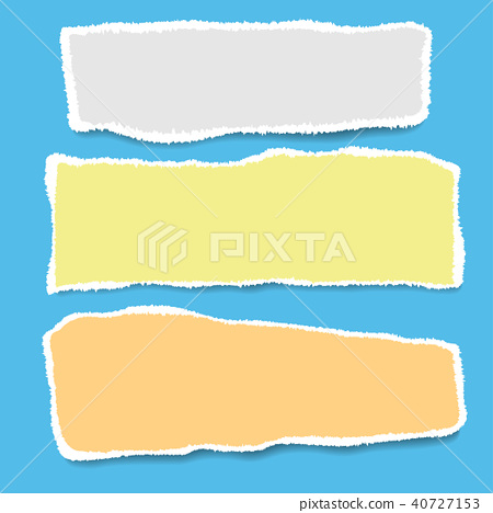 Ripped paper  Vector of ripped paper  - Stock Illustration
