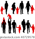 family, silhouette, child 40729578