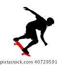 skateboard, skateboarder, jump 40729591