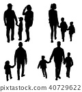 family, silhouette, child 40729622
