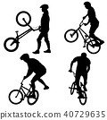 bike, bicycle, silhouette 40729635