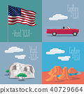 Set of vector illustrations with American symbols 40729664