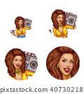 female avatar vector 40730218