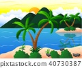 Exotic beach and coconut island vacation 40730387