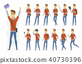 vector student character 40730396