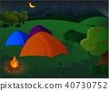 camp, vector, meadow 40730752