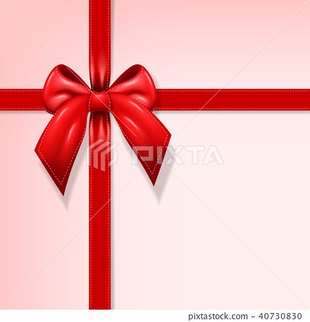 Gift red ribbon illustration 40730830