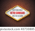 sign, retro, illustration 40730885