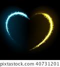 Glittering star dust heart illustration 40731201