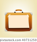 Briefcase holiday with sign paper 40731250