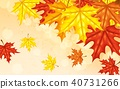 Autumn background with leaves 40731266