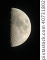 First quarter moon 40731802