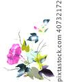나팔꽃, 일본 종이, 꽃 40732172