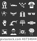 technology, icons, set 40734644