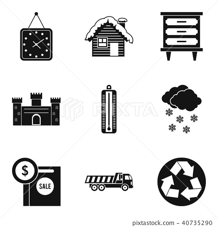 Expensive house icons set, simple style 40735290