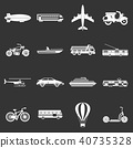 Transportation icons set grey vector 40735328