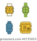 smartwatch, icon, set 40735655