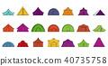 tent, icon, set 40735758