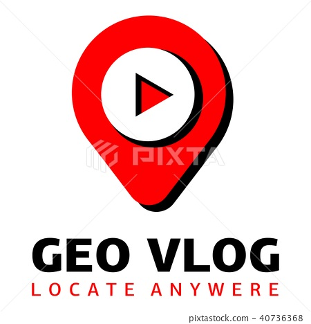 Geo vlog logo, flat style 40736368
