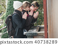 Foreigner Visiting Temple 40738289