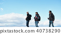 Trekking superb view of foreigners 40738290