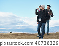 Trekking superb view of foreigners 40738329