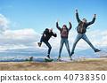 Fujisan Foreigner Jump Portrait 40738350