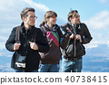 Trekking superb view of foreigners 40738415