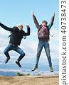 Fujisan Foreigner Jump Portrait 40738473
