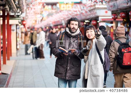 白人 外國人 遊覽 40738486